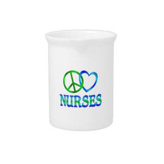 Peace Love Nurses Pitchers