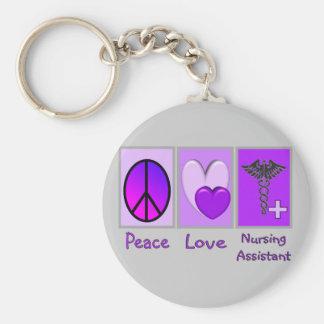 Peace Love Nursing Assistant Key Chain