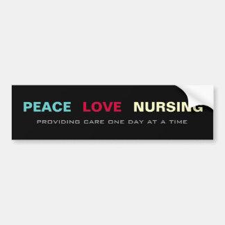 Peace Love Nursing Bumper Sticker Car Bumper Sticker