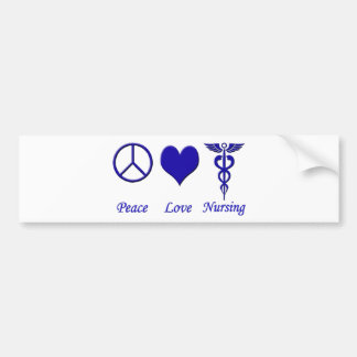 Peace Love Nursing Bumper Sticker