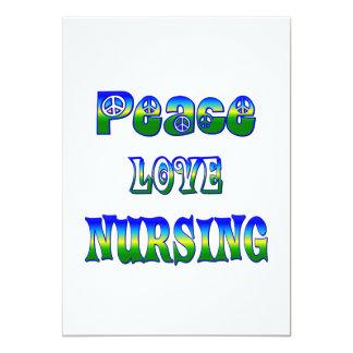 Peace Love Nursing Card