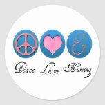 Peace Love Nursing Classic Round Sticker