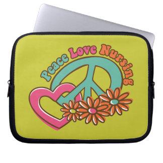 Peace Love Nursing Computer Sleeve