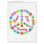 PEACE LOVE NURSING GREETING CARD