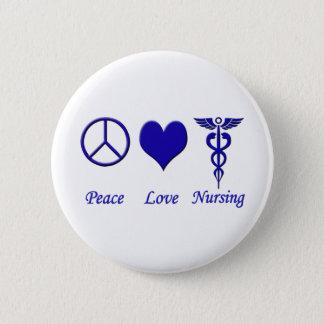 Peace Love Nursing Pinback Button