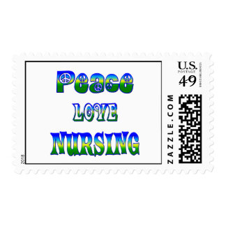 Peace Love Nursing Postage