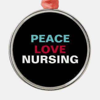 Peace Love Nursing Premium Ornament