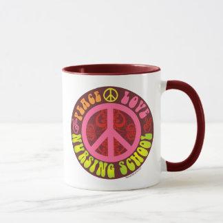Peace, Love, Nursing School Mug
