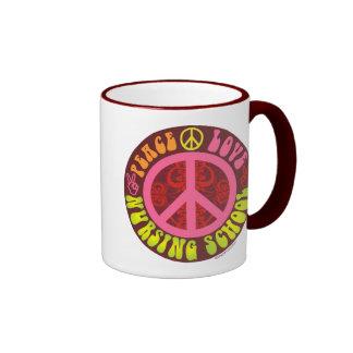Peace Love Nursing School Coffee Mug