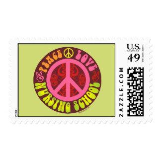 Peace, Love, Nursing School Postage