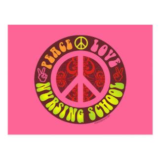 Peace, Love, Nursing School Postcard