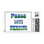 Peace Love Nursing Stamps