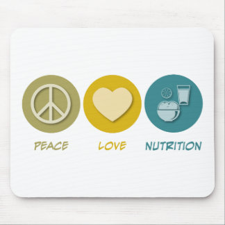 Peace Love Nutrition Mouse Pad
