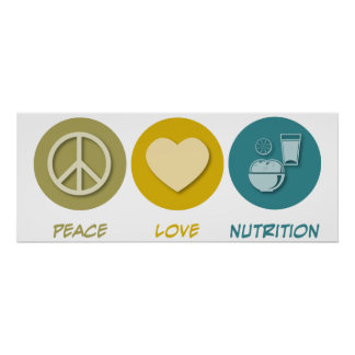 Peace Love Nutrition Posters