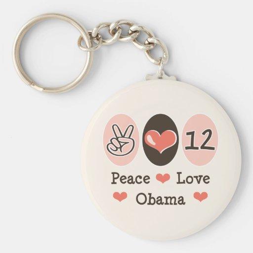Peace Love Obama 2012 Keychains