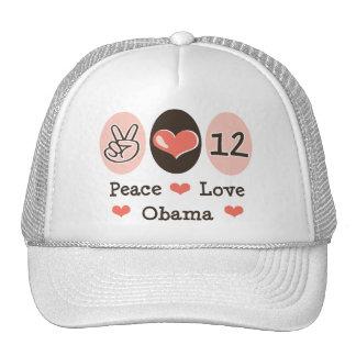 Peace Love Obama 2012 Trucker Hat
