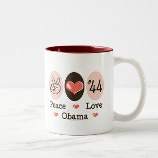 Peace Love Obama 44 Mug