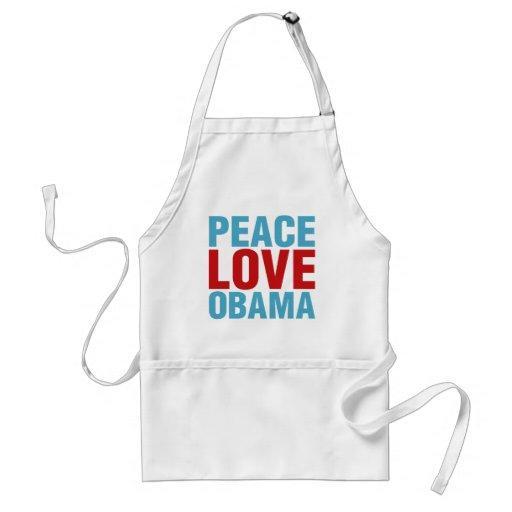 Peace Love Obama Apron