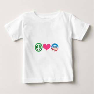 Peace, Love, Obama Baby T-Shirt