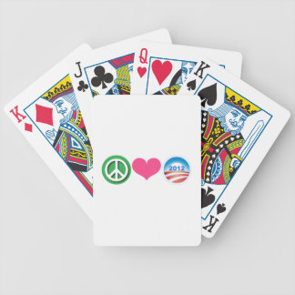 Peace, Love, Obama Bicycle Playing Cards