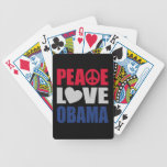 Peace Love Obama Bicycle Poker Cards