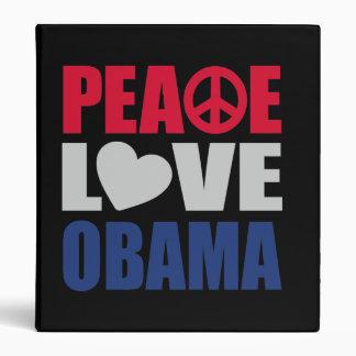 Peace Love Obama Binder