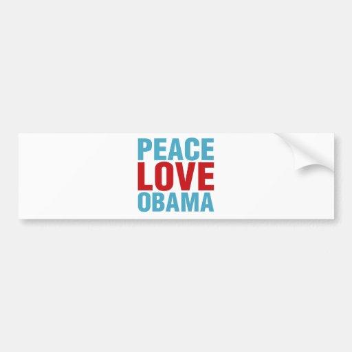 Peace Love Obama Bumper Sticker
