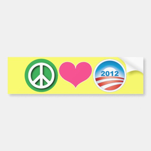 Peace, Love, Obama Bumper Stickers
