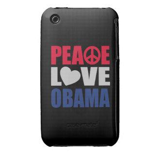 Peace Love Obama iPhone 3 Case