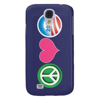 Peace, Love, Obama Samsung Galaxy S4 Cover