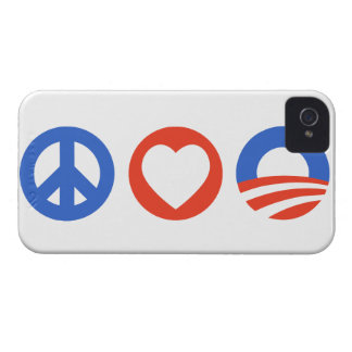 Peace Love Obama iPhone 4 Case-Mate Cases