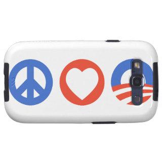 Peace Love Obama Galaxy S3 Covers