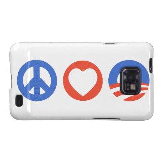 Peace Love Obama Galaxy S2 Cover