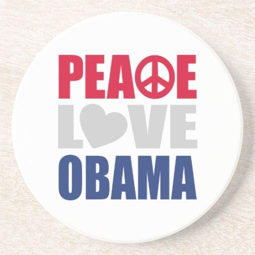 Peace Love Obama Coasters