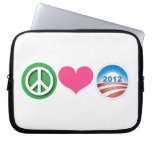Peace, Love, Obama Computer Sleeve