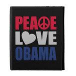 Peace Love Obama iPad Folio Cases