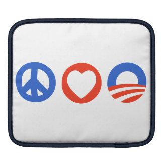 Peace Love Obama iPad Sleeves