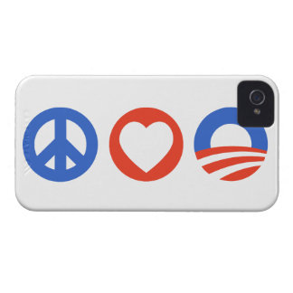 Peace Love Obama iPhone 4 Cases