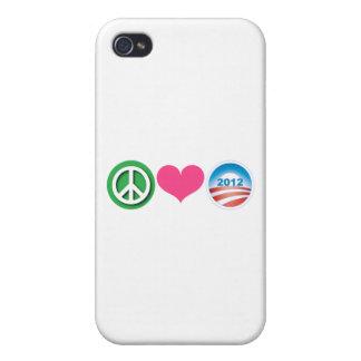 Peace, Love, Obama iPhone 4 Cases