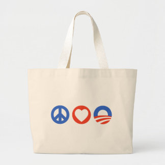 Peace Love Obama Jumbo Tote Bag