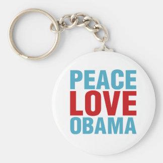 Peace Love Obama Keychain