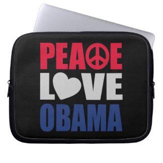 Peace Love Obama Laptop Sleeves
