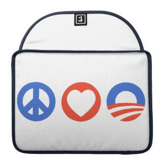 Peace Love Obama MacBook Pro Sleeves