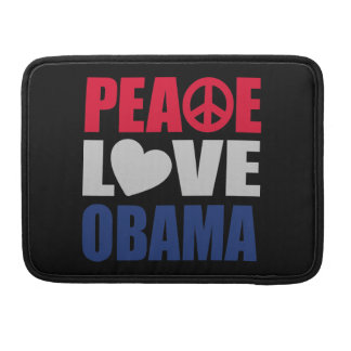 Peace Love Obama MacBook Pro Sleeve