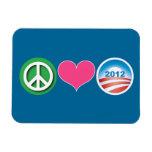 Peace, Love, Obama Magnets
