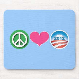 Peace, Love, Obama Mouse Pad