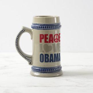 Peace Love Obama Coffee Mugs
