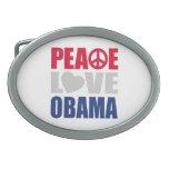 Peace Love Obama Oval Belt Buckles