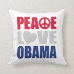 Peace Love Obama Pillow