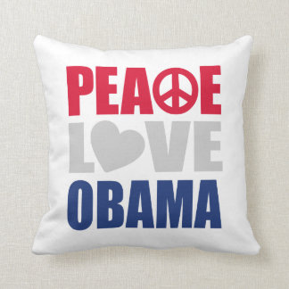Peace Love Obama Pillow